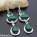 HERMOSA jewelry Retro elegance 925 sterling silver Oval Drop shape earrings HF668