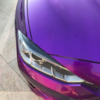 Carbon Fiber car sticker Headlights Eyebrows Eyelid Front Lighting Modification Accessories For BMW3 Series F30