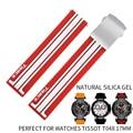 Высокое качество силиконовый резиновый ремешок для часов новый стиль модный спортивный ремешок специальный foTissot T048 заменить аксессуары дл...