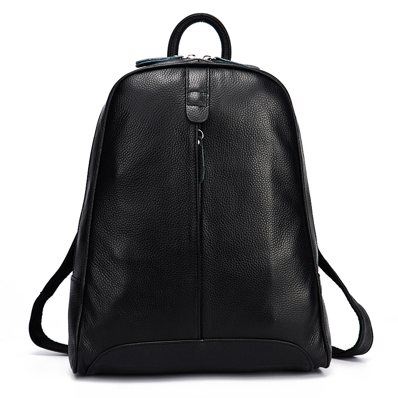 2018 100% Genuine Real Leather 8 Colors New Backpacks Girls Female Top Layer Cowhide School Book Bags Ladies Black Gray White zency genuine leather backpacks female girls women backpack top layer cowhide school bag gray black pink purple black color