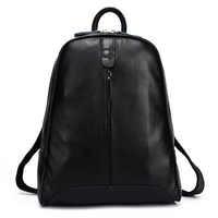 2019 100% Genuine Real Leather Black/ Silver Gray/ White/Pink Backpacks Girls Female Top Layer Cowhide School Book Bags Ladies