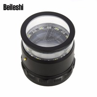 Beileisi HD Magnifier With Led Lights 10X Magnification Loupes Multiscale Magnifying Precision Calibration Lupa Escala Hot