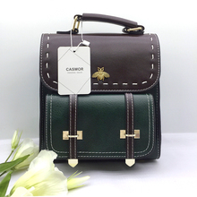 CASMOR Vintage Backpacks Women Classic Old School For Girls Fashion School bag PU Leather High Quality College Backpack