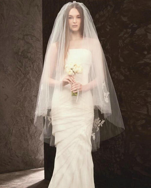 1.15 Meter Lace Wedding Veils Tulle 2017 Two Layer Bridal Veil Wedding Accessories With Combs Lace Bride Veils