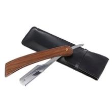 Manual Shaver Professional Straight Edge Stainless Steel Sharp Barber Razor Folding Shaving Knife Shave Beard Cutter