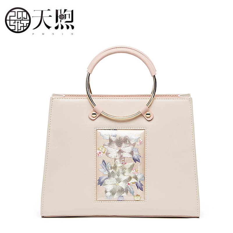 TMSIX 2019 New women Genuine leather bags designer famous brand embroidery Luxury fashion tote handbag schoudertas damesTMSIX 2019 New women Genuine leather bags designer famous brand embroidery Luxury fashion tote handbag schoudertas dames