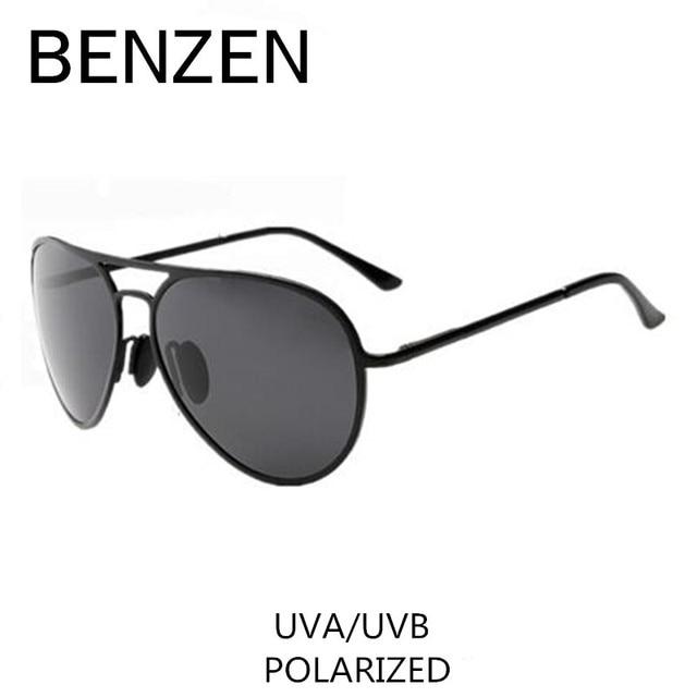 BENZEN Polarized Sunglasses Men Vintage Alloy Male Sun Glasses Driving Fishing Glasses  Oculos  With Case 9029