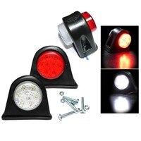 Marcador de borracha resistente 6led luzes para todos os veículos com sistema 12 v soonhua 2 pces lado marcador esboço conduziu a lâmpada clara