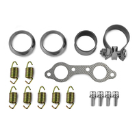 UTV Exhaust Muffler Repair Kit for Polaris RZR 800 4X4 EFI EPS RZG LTD INTL WALKER EVANS POWERSTEERING 2008 2009 2010 2011