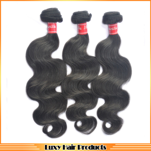 6A Grade brazilian virgin hair body wave 20 % off ,1B color luxury queen hair products extensions 3 pcs / lot human hair weave