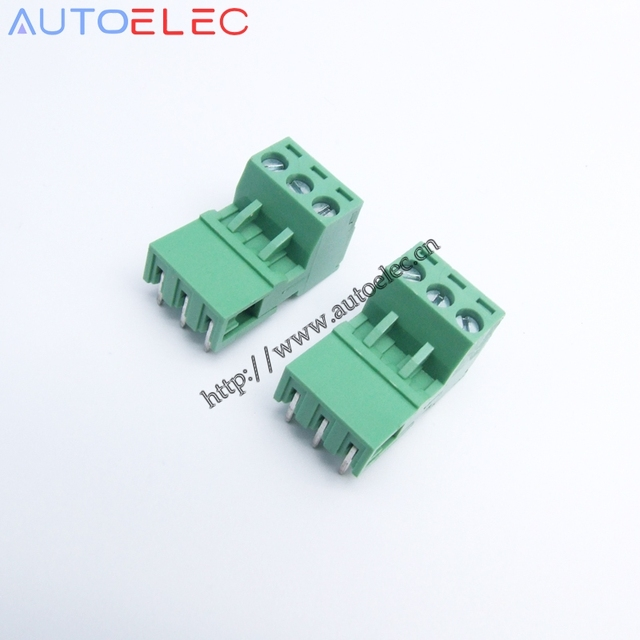 100 sets Pitch5.0mm 3Pins PCB Terminal Block Connector wire ...
