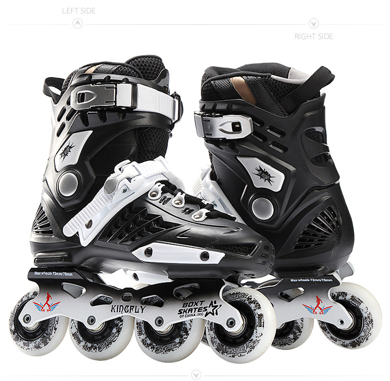 Cool Inline Professional Adult Slalom Sliding Ice Skates Skating Shoes Adjustable Washable 85A Flash PU wheels Panties Adulto vik max athletic shoe women tricot lined figure ice skates shoes