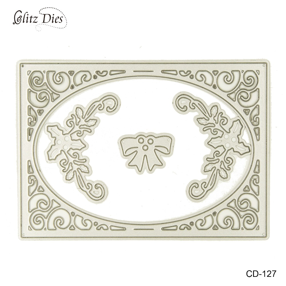 ̀ •́ This Frame Metal Cutting Dies Stencil Template for Scrapbooking ...