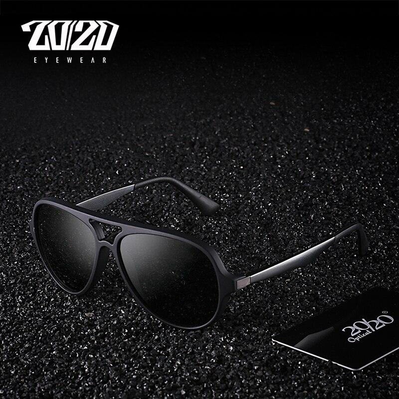 20/20 Brand Polarized Men Vintage Sunglasses Aluminum Frame Sun Glasses Men's Eyewear Accessories For Men PZ5005