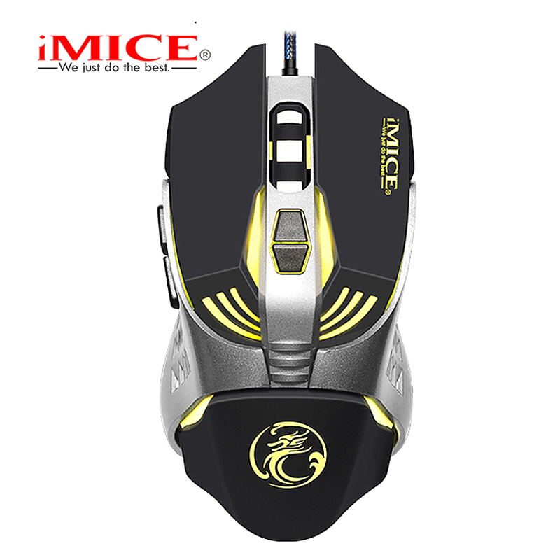 imice Gaming mouse Custom Computer Mouse 3200CPI 7 Buttons mouse game Ergonomic USB optical wired gaming mouse for PC Laptop original logitech g102 gaming wired mouse optical wired game mouse support desktop laptop support windows 10 8 7