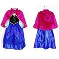 Vestidos Para Meninas Anna Elsa Rainha da Neve do Inverno Natal Festa de Aniversário Crianças Xale Vestido de Casamento Da Princesa Trajes de Noite