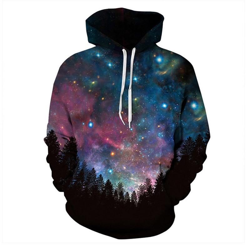 3D Sweatshirts Hooded Men/Women Hoodies With Cap Printing Autumn Winter Loose Thin Space Hoody Tops