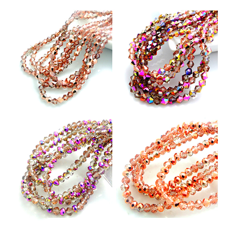 Hote Sale Rondelle/bicone Faceted Crystal Glass Loose Beads Jewelry Making 3mm4mm6mm8mm
