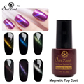 Saviland 1pcs No-cleansing 3D Cat Eyes Top Coat UV&LED Lamp Need Magnet Nail Gel Polish Magnetic Top Coat Gel Lacquer