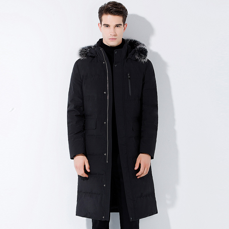 0c24cc512f232 2017 new arrival winter men high-end down coats fashion casual hat  detachable dress men s thick solid zippers coat size S-3XL