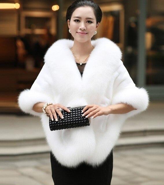 Высокое Качество 2016 Горячие Продаж Белый Мода Свадебные Обертывания Искусственного Меха Болеро Женщины Куртка Свадебные Аксессуары