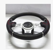 "GV-SW300 volantes para coche universal auto racing volante con cuero genuino universal 14 ""para kia rio vw"