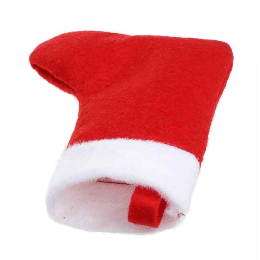 D3 1 PC Kerst Leuke Sok Vorm Vork Mes Pakket Opslag Servies Bestek Sets Covers Bag jul19