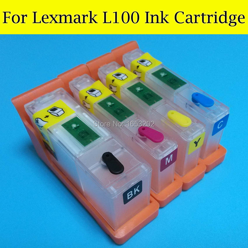100xl L100 Refillable Ink Cartridge For Lexmark pro 205 209 705 708 805 808 905 908 s815 s305 s308 s405 s408 s605 s608 printer ink cartridge for lexmark 16 10n0016 printer x1180 x1185 x1190 x1196 x1250 x1270 x2225 x2230 x2250 x3300 x3315 x72 x74 x75 m z13