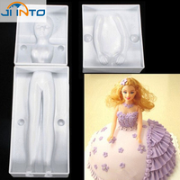 Human Body Model Food Grade Silicone Mold 3D Shape Of Dress Fondant Cake Decorating Tools Silicone