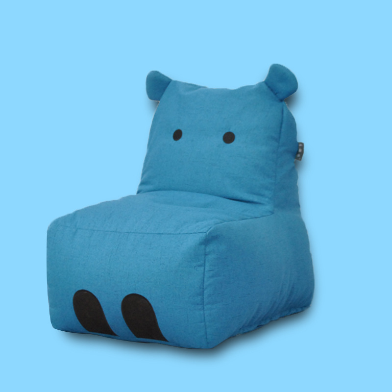 INS Nordic Striped Cute Panda Ear Children Sofa Bean Bag Sofa Can Be Disassembly and Washing Chair for Kids Baby Sofa