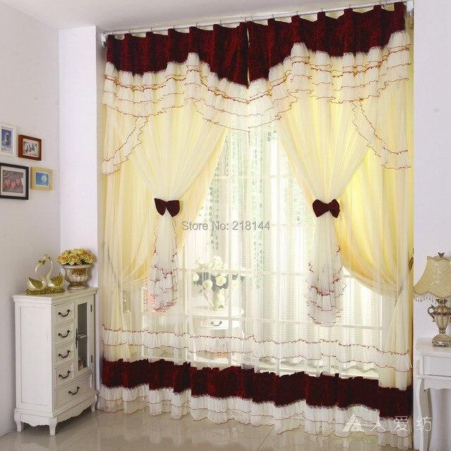 270 x 300 cm finito tende oscuranti per soggiorno pizzo fiocco tende per camera da letto di - Tende in pizzo per camera da letto ...