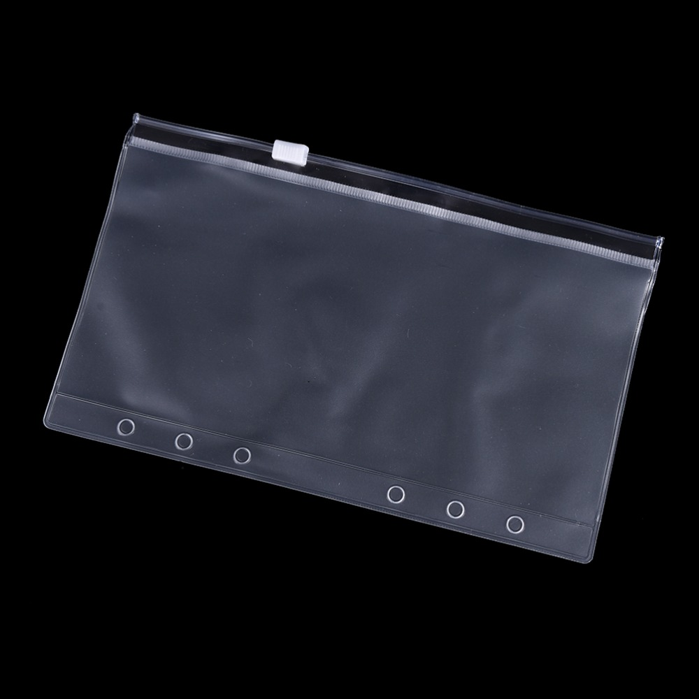 Peerless A5/A6/A7 Transparent PVC Storage Card Bag Traveler Notebook Diary Planner Zipper Bag Filing Products