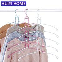 Detachable Clothes Rack 2 Colors Household Multilayer Iron Hanger Multifunctional Clothes Storage Racks Wardrobe Hanger EGA022