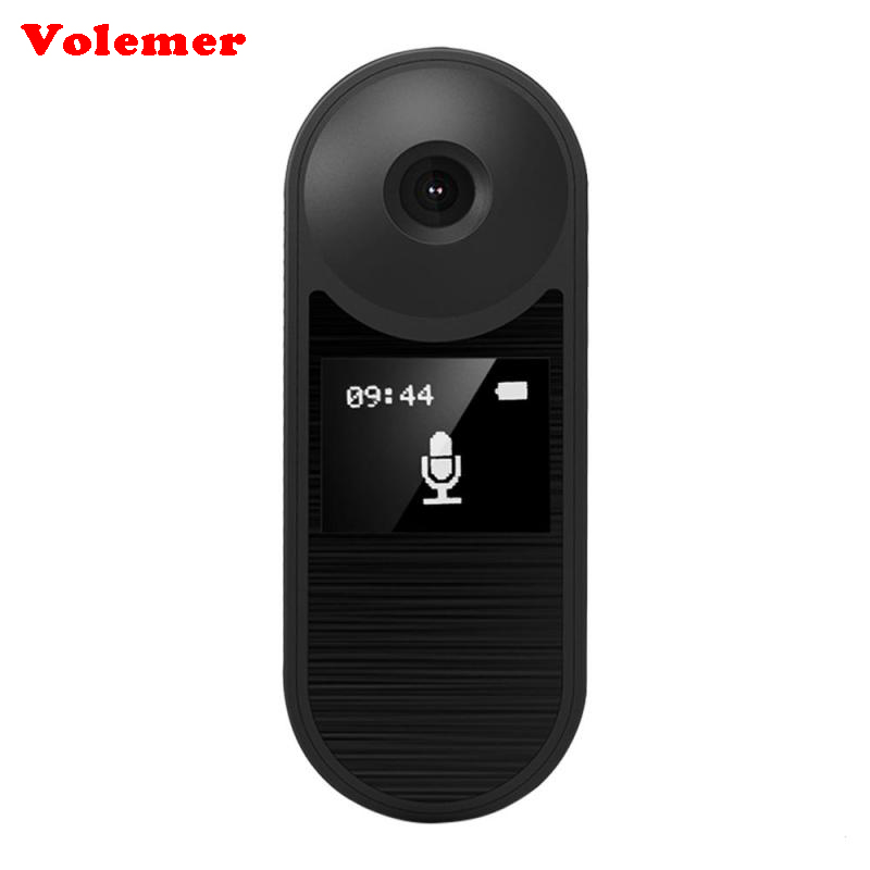 Volemer New IDV008 Wearable Mini Camera With Full HD 1080P DVR For Mini Camera Home Office Body Mini Cams Camcorder Magnetic