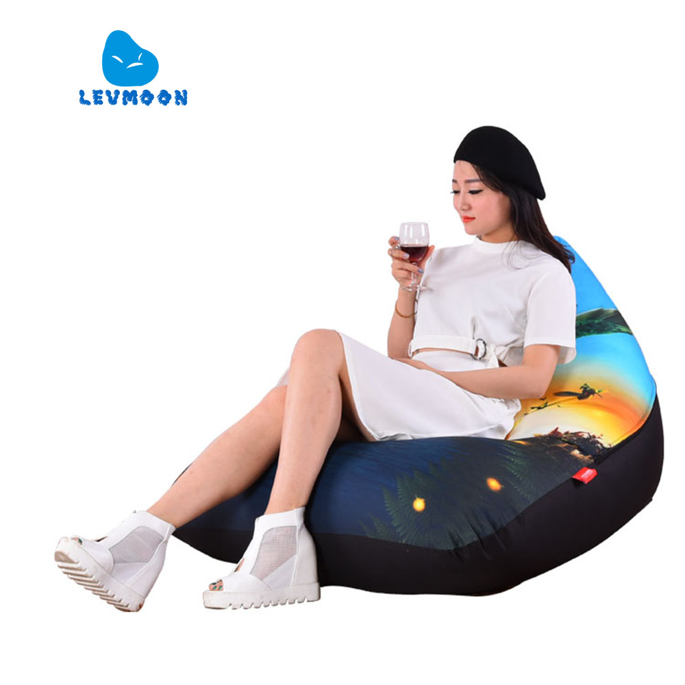 LEVMOON Beanbag Sofa Chair Shell Epic Seat Zac Comfort Bean Bag Bed Cover Without Filler Cotton Indoor Beanbag Lounge Chair levmoon beanbag sofa chair hulk seat zac shell comfort bean bag bed cover without filler cotton indoor beanbag lounge chair