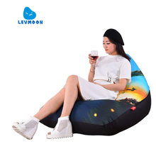 LEVMOON Beanbag Sofa Chair Shell Epic Seat Zac Comfort Bean Bag Bed Cover Without Filler Cotton Indoor Beanbag Lounge Chair(China)