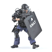 где купить 30CM SWAT POINT-MAN Special Police Action Figure Jointed Doll 1/6 Scale Soldier Model Army Toys for Children Boys Birthday Gift по лучшей цене