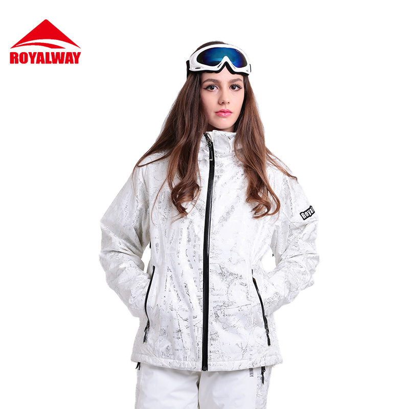 ROYALWAY Women Ski Jacket Waterproof Safety Windproof Snowboard Jacket Adjustable Hood Super Warm Breathable Jacket #RFSL4498G ...