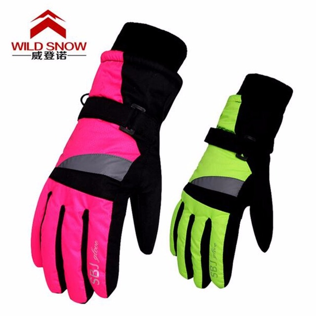 NEW Children Winter Snowmobile Ski Gloves kids Girls Waterproof Skiing Snowboarding Gloves windproof lovely Boy and Girls PYG