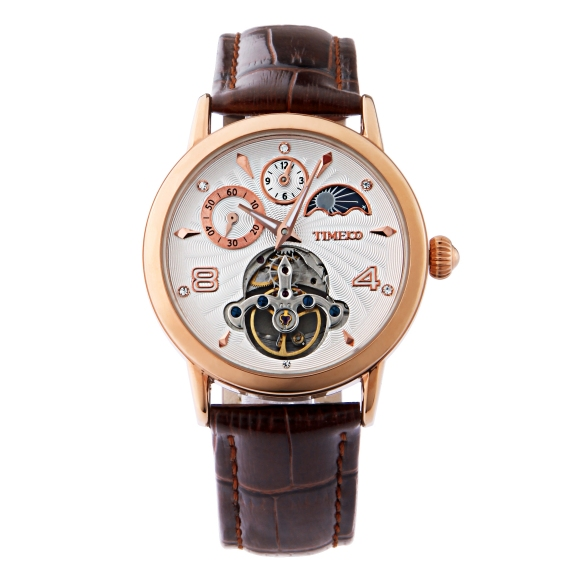 Mens Automatic Self Wind Mechanical Sport Watch Sun Phase Skeleton Tourbillon Style Black Leather Strap Watches Birthday GiftMens Automatic Self Wind Mechanical Sport Watch Sun Phase Skeleton Tourbillon Style Black Leather Strap Watches Birthday Gift