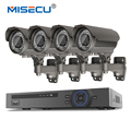 Hot POE 48V 4CH NVR KIT 1080P HD Hi3516c 2.0MP Onvif 2MP 4*POE IP 36pc IR night vision 2.8-12mm Zoom Waterproof  P2P System cctv