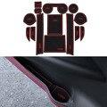 14Pcs/Set Car Styling Slot Pad Interior Door Groove Mat Latex Anti-Slip Cushion For Citroen C4 Aircross 2012-2013 Car Dedicated