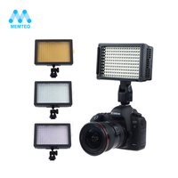 MEMTEQ Camera Accessories Flash 160 LED Video Light Hot Shoe Lamp Photo Studio Lighting for Canon Nikon Pentax Camera DSLR