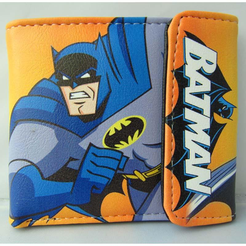 American Idol Batman PU Short Wallet/Colorful Cartoon Button Purse american super hero batman pu short zero wallet coin purse with interior zipper pocket