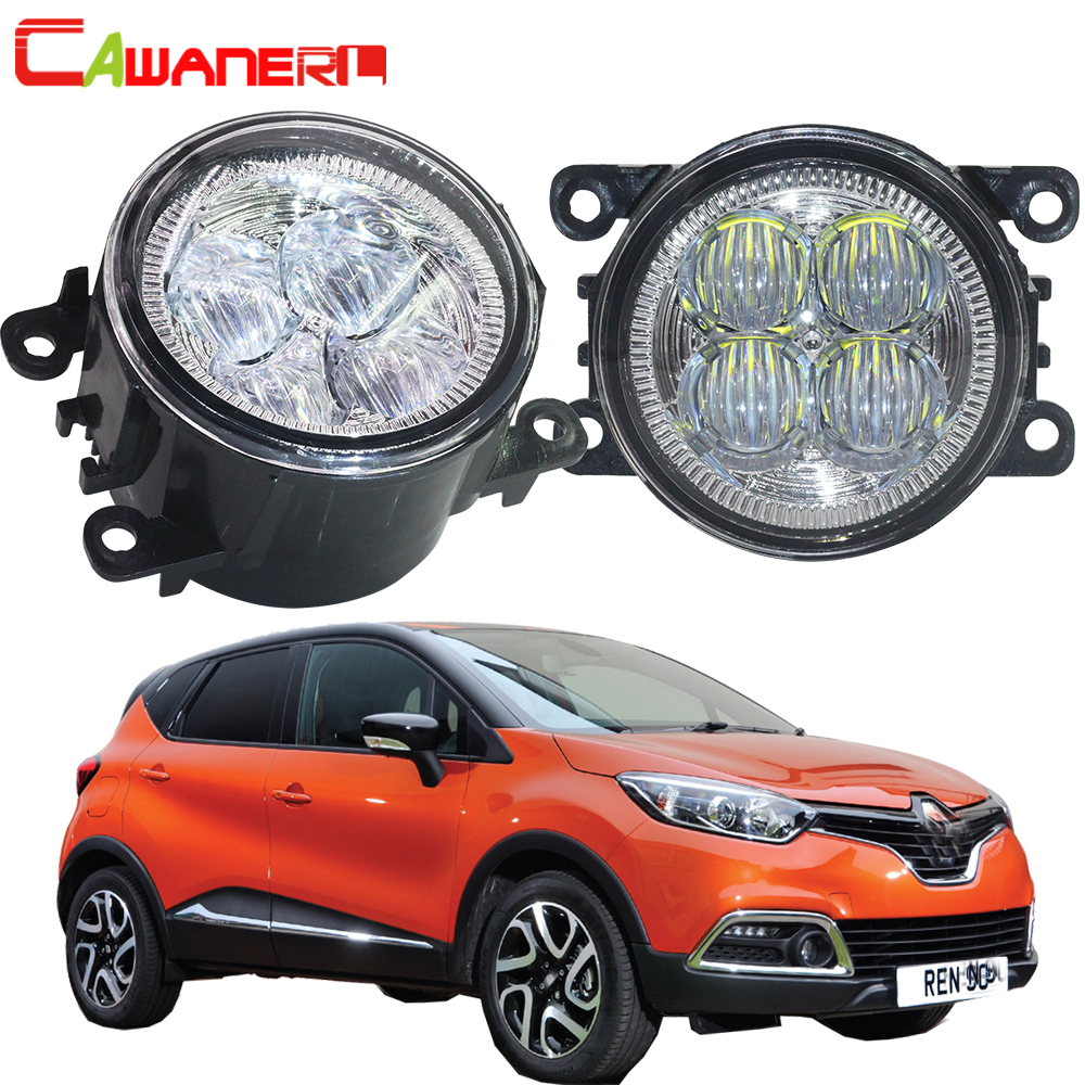 Cawanerl 2 X Car Styling <font><b>LED</b></font> Fog Light Bulb Angel Eye DRL Daytime Running Light 12V For <font><b>Renault</b></font> <font><b>Captur</b></font> 2013 2014 2015 2016 2017 image