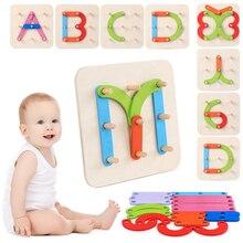 Piezas de madera con tablero para aprender números, letras o formas geométricas
