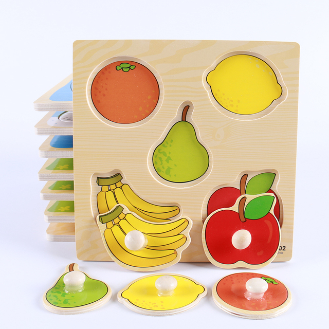 Kid's Hand Grabbing Wooden Puzzles