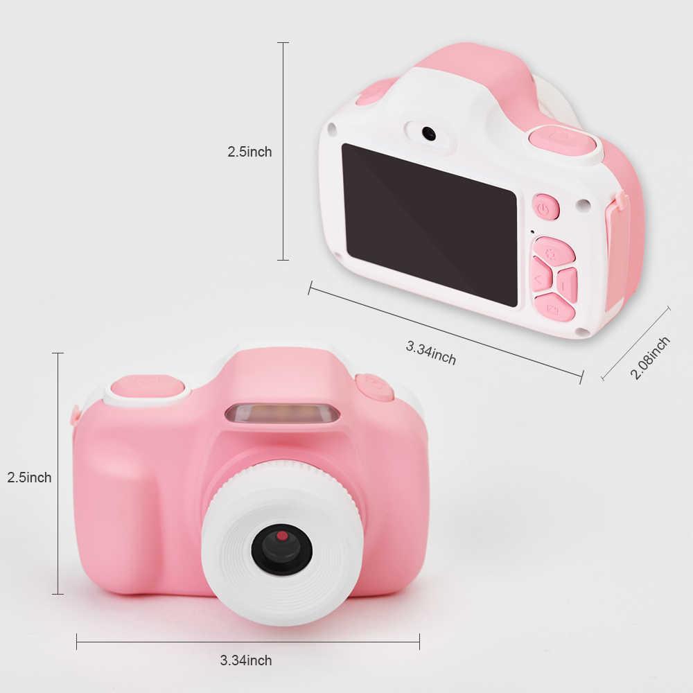 Цифровая зеркальная камера для детей, Ударопрочная и передняя и задняя селфи камера 20,0 м с 2,0 дюймовым ips экраном детские развивающие игрушки
