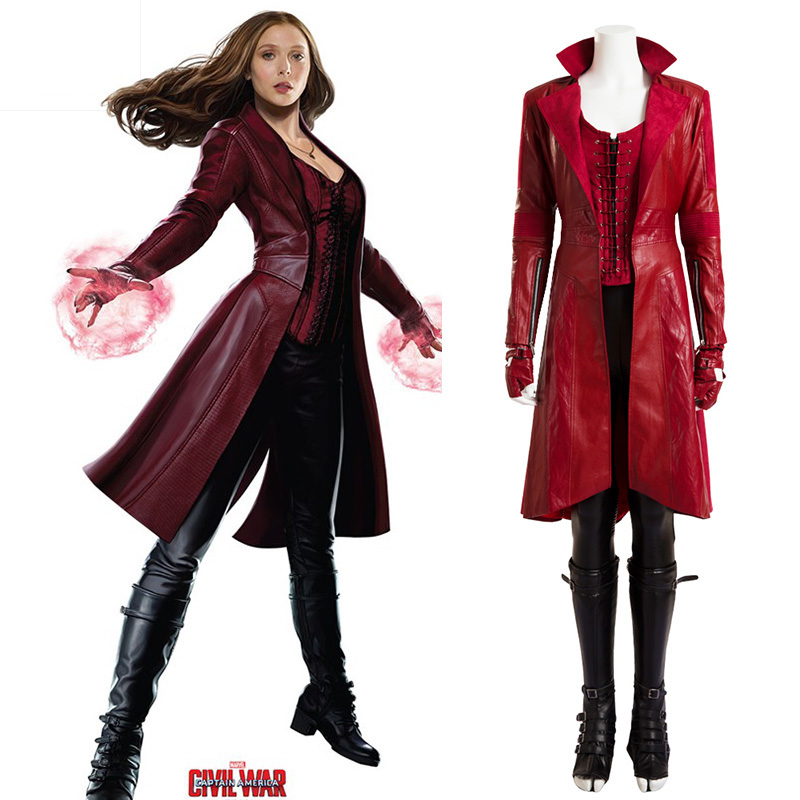 Hero Catcher Wanda Maximoff Scarlet Witch costume Captain America Civil War Wonda Costume Halloween costumes for adult