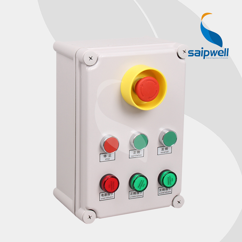 80*250*70mm Push Button Switch Box With Signal Light /Button Control Station Switch Box/Waterproof Box (SP-2819-A007 ) new one button control box switch abs weatherproof push button switch mayitr automatic gate opener switches